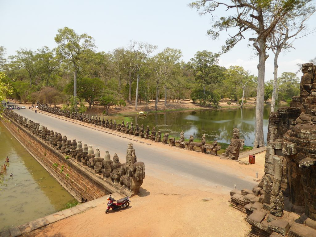 South Gate to Angkor Thom (taken from the top of the gate)
