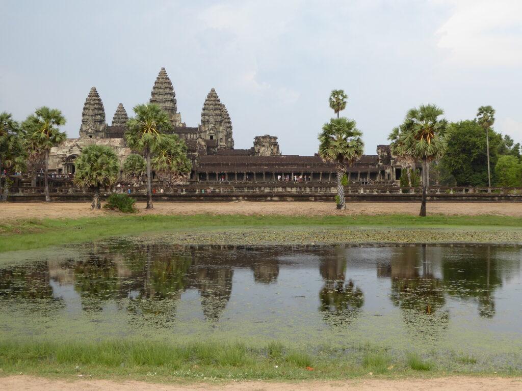 Angkor Wat reflection during dry season