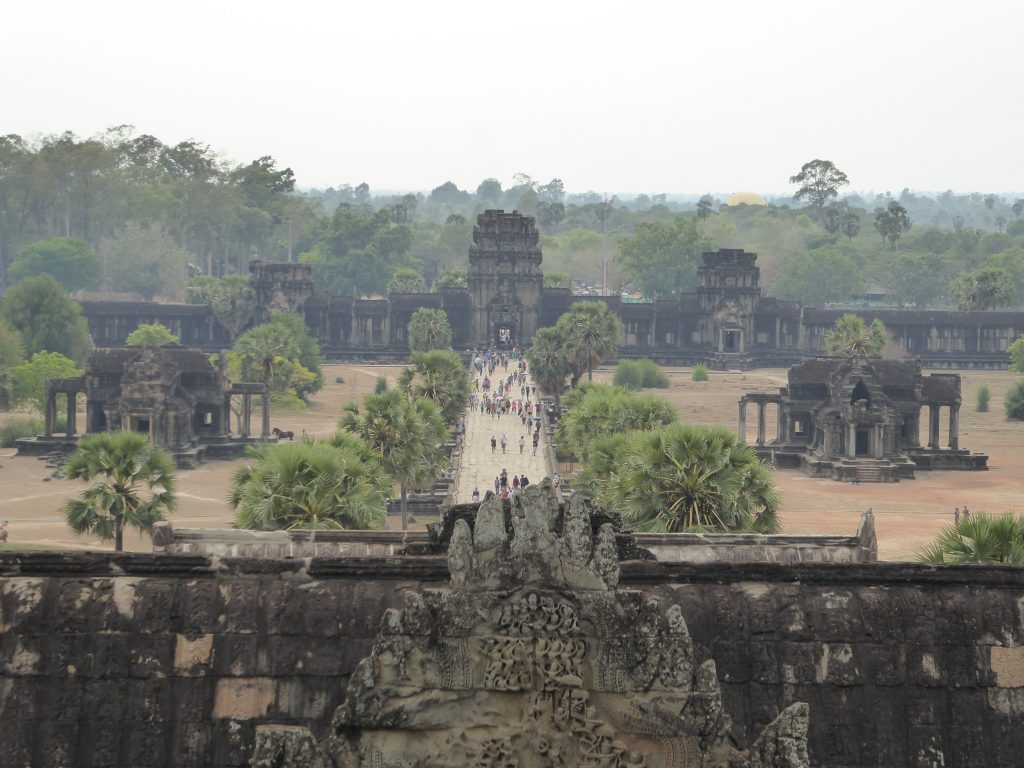 The view from the top of Angkor Wat